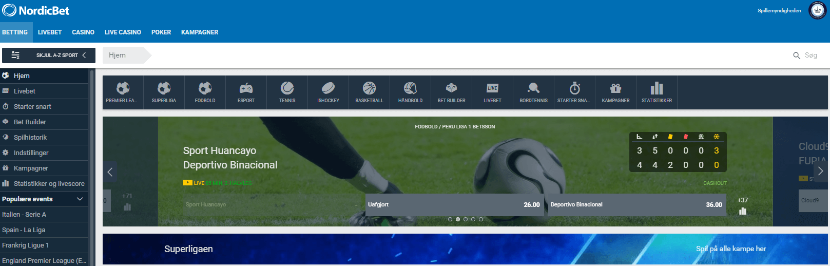 NordicBet sports betting